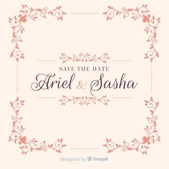 Ornemental sauver l'invitation de mariage de date