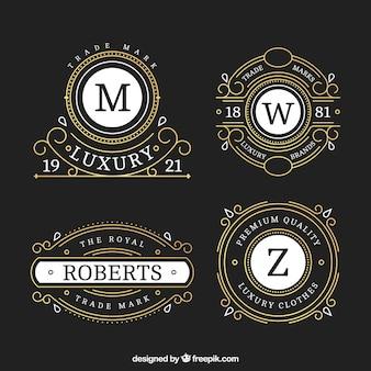 Ornementales logos des hôtels de luxe