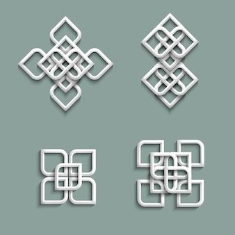 Ornements 3d en style arabe