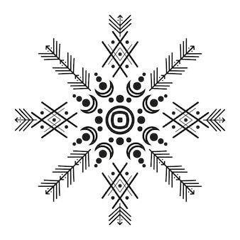 Ornements et flèches de style tribal. collection de conception de motifs ornementaux amérindiens. illustration vectorielle