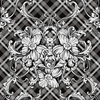 Ornements floraux monochromatiques