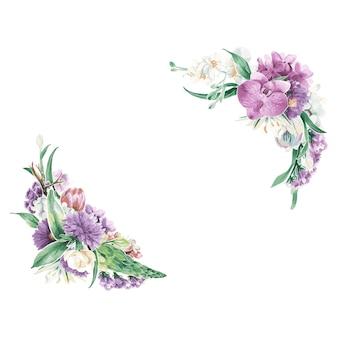 Ornements floraux vintage