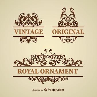 Ornements floraux vintages