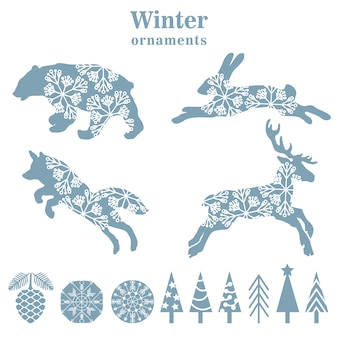 Ornements d'hiver