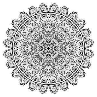 Ornements de mandala de nature vectorielle.