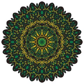 Ornements de mandala de nature vectorielle.