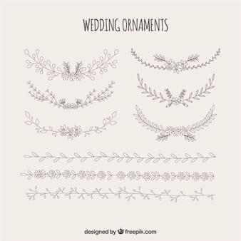 Ornements de mariage en fleurs