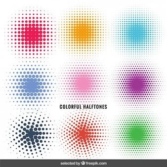 Ornements en pointillés colorés