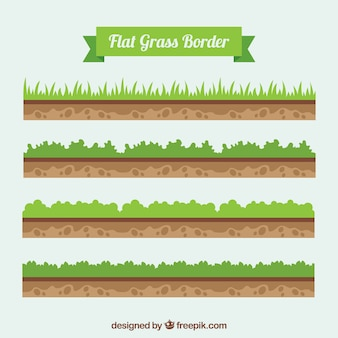 Ornithologues au sol et l'herbe emballent