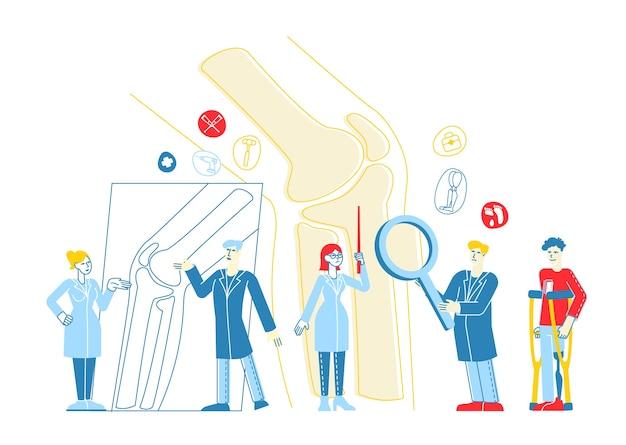 Orthopédie médicale concilium, concept de soins de santé