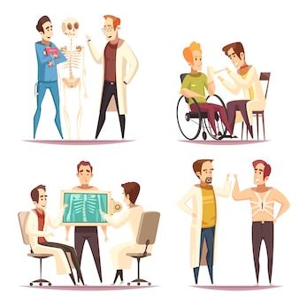 Orthopédiste concept 4 cartoon