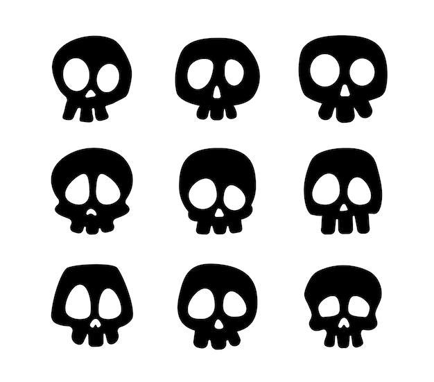 Os. ombre du crâne du squelette fantôme dans un cimetière effrayant à l'halloween.