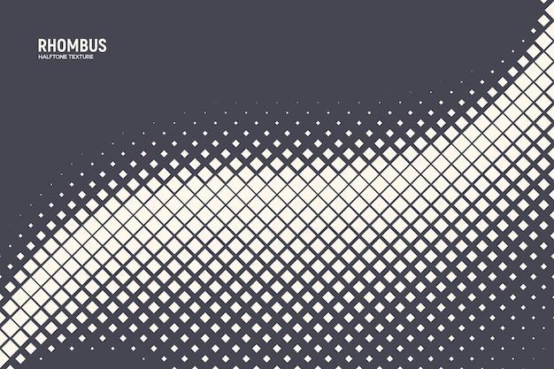 Oscillation wave demi-teinte rhombus