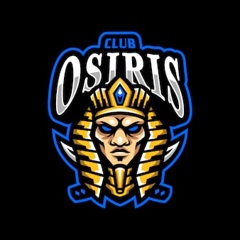 Osiris mascotte logo esport gaming