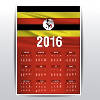 Ouganda calendrier 2016