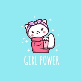 Oui, cute cat girl power can