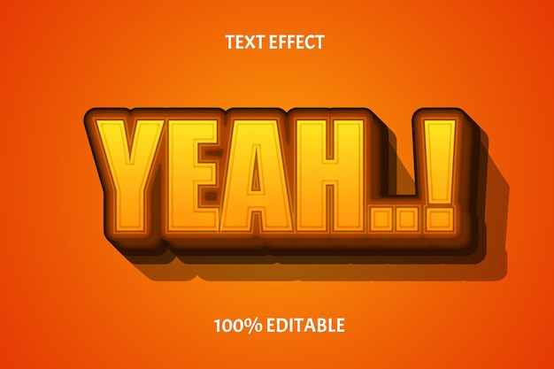 Oui, effet de texte modifiable de couleur jaune marron