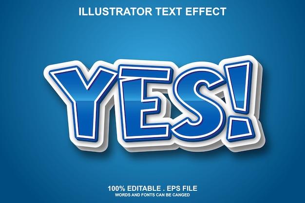 Oui effet de texte modifiable