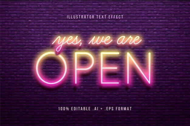 Oui, nous sommes un effet de texte ouvert
