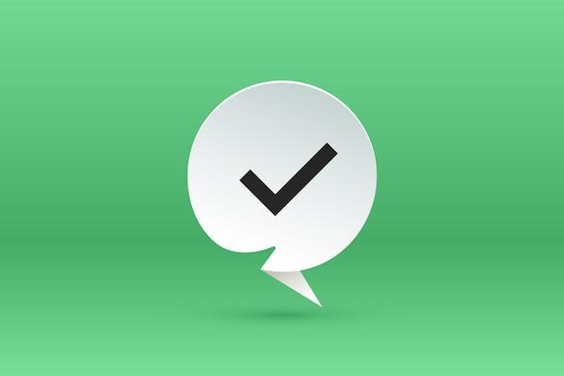 Oui signe. bulle de dialogue papier, discours sur le nuage et message