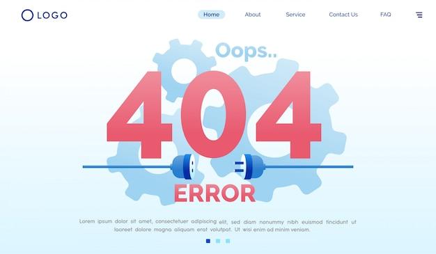 Oups 404 modèle plat d'erreur