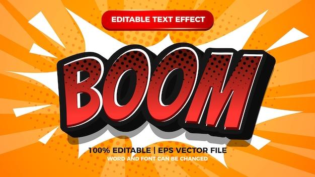 Oups effet de texte modifiable comique avec fond de demi-teintes