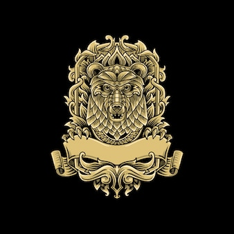 Ours classique vintage logo luxe