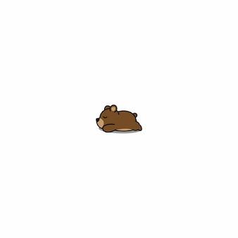 Ours dormant icône de dessin animé
