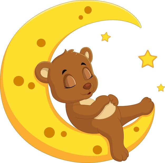 L'ours dort sur la lune