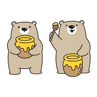 Ours avec du miel
