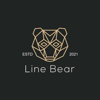 Ours de ligne d'illustration de logo vectoriel