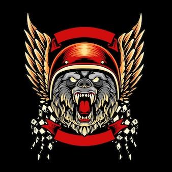 Ours mascotte club moto