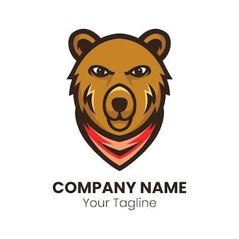 Ours mascotte logo design illustration vectorielle