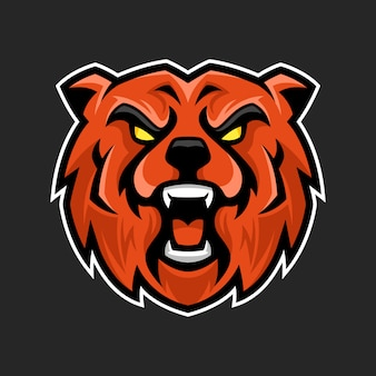 Ours mascotte logo