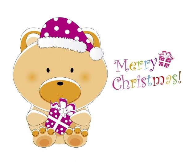 Ours mignon avec boîte-cadeau