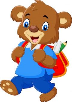 Ours mignon avec sac à dos