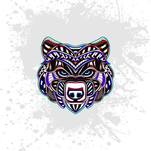 Ours de motif décoratif abstrait