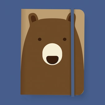 Ours Notebook Graphic Illustration