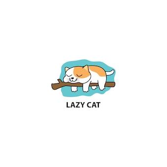 Ours paresseux dormir sur une illustration de vecteur de dessin animé de branche