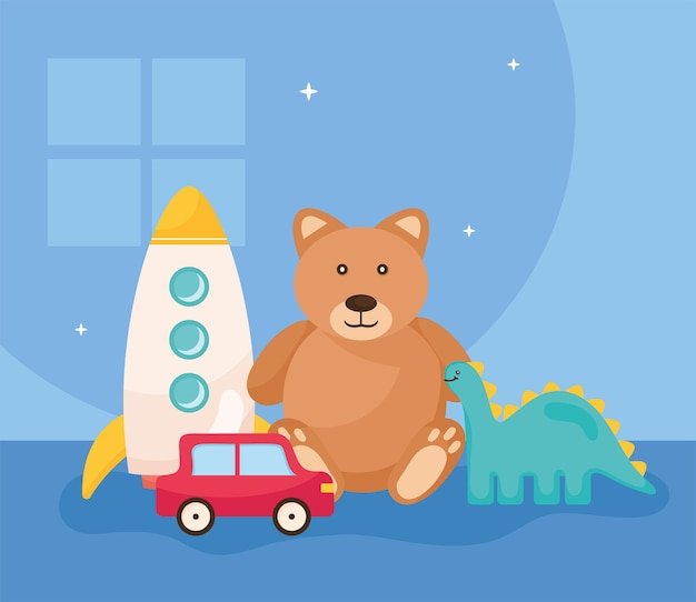 Ours en peluche et jouets