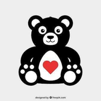 L'ours en peluche jour de la saint valentin