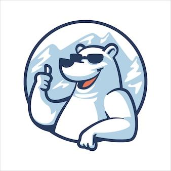 Ours polaire cool de dessin animé