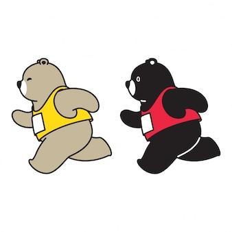Ours polaire en cours d'exécution