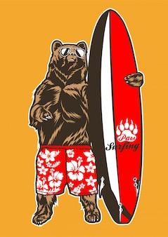 Ours surfeur