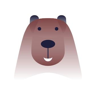 Ours de vecteur dans un style dégradé. art numérique