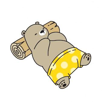 Ours vecteur icône ours polaire