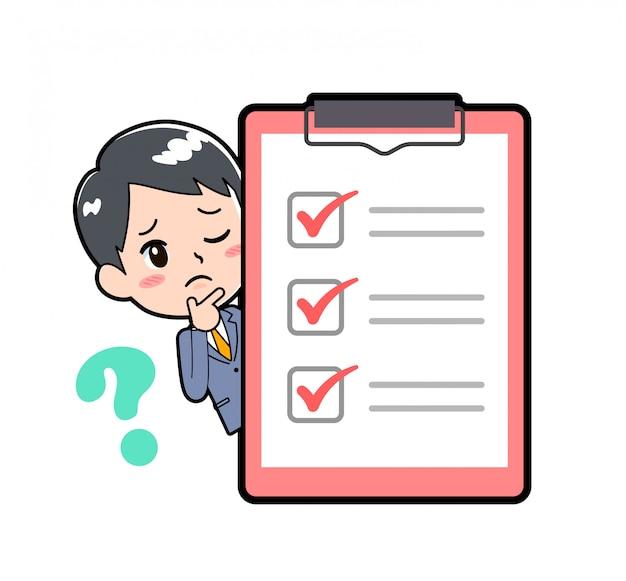 Out line businessman_peep-check-question