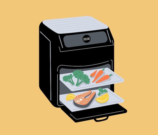 Outil de cuisine intelligent pour friteuse à air cuisine saine avec circulation d'air