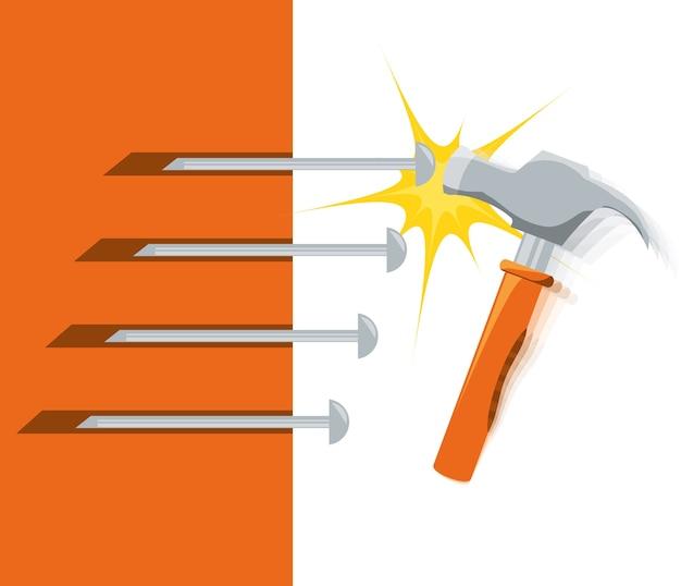 Outil de marteau pour réparer le service