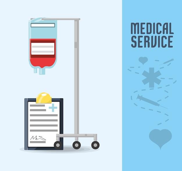 Outil de transfusion sanguine avec prescription diagnostique